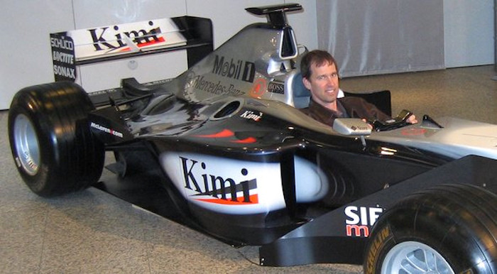Kimi's car at the Benz museum