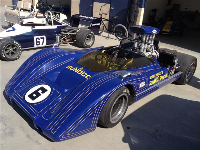 Penske McClaren Can Am race car RACING ON THE CHEAP